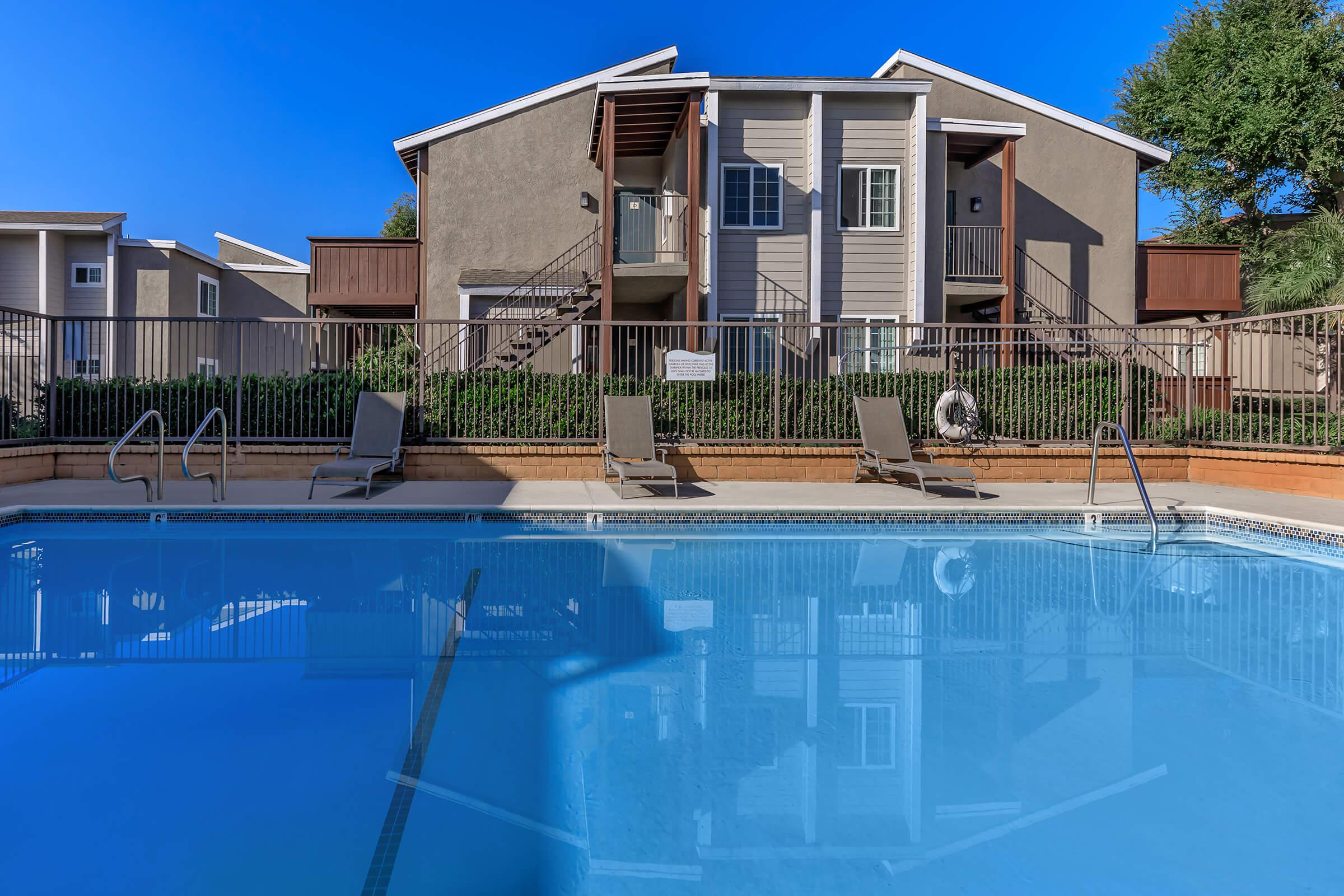 Pool at Copper Wood  Apartments in Chino, CA