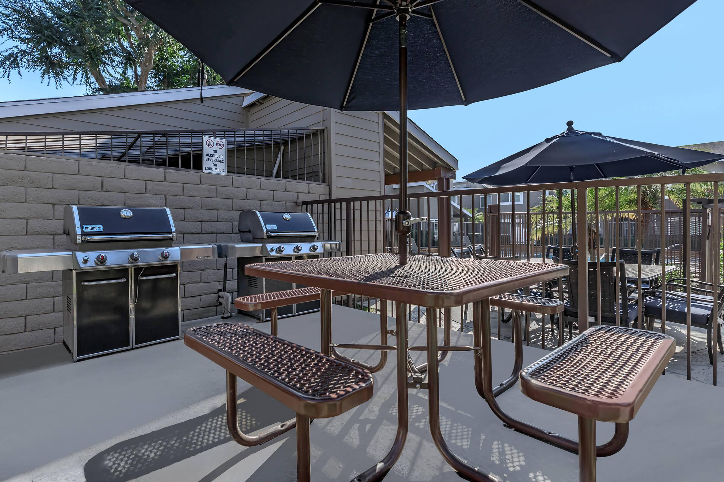 Patio at Copper Wood  Apartments in Chino, CA