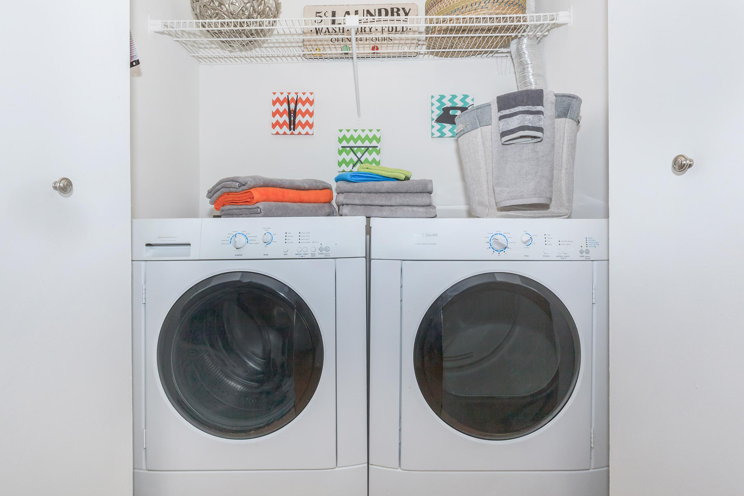 WASHER AND DRYER CONNECTIONS IN TOWNHOMES AT WATERFORD VILLAGE