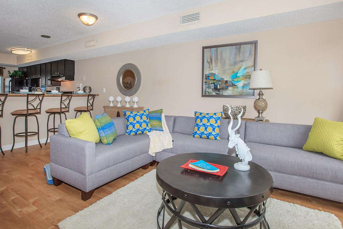 Beautiful plank style flooring in the 2 bed 1.5 bath at Waterford Village