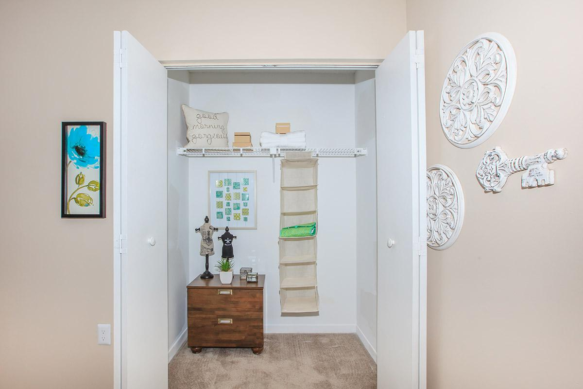 Large and spacious closets