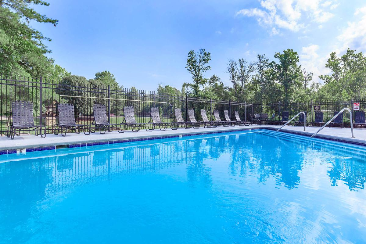 The pool deck at Waterford Village