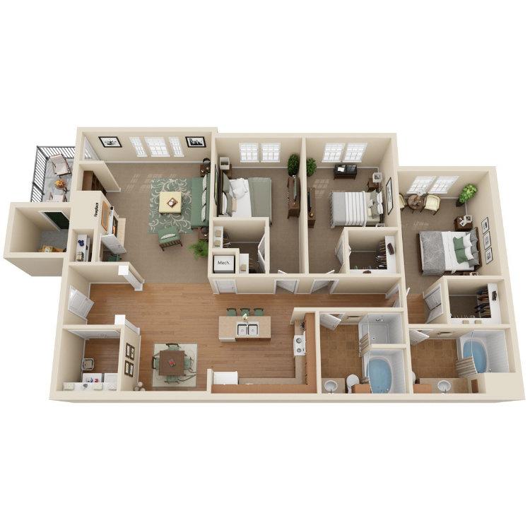 Floor plan image of Schooner