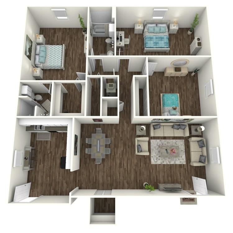Floor plan image of 3 Bed 2 Bath