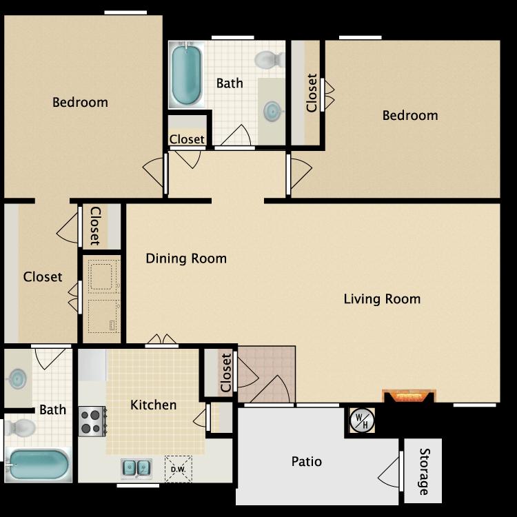 Floor plan image of D-1