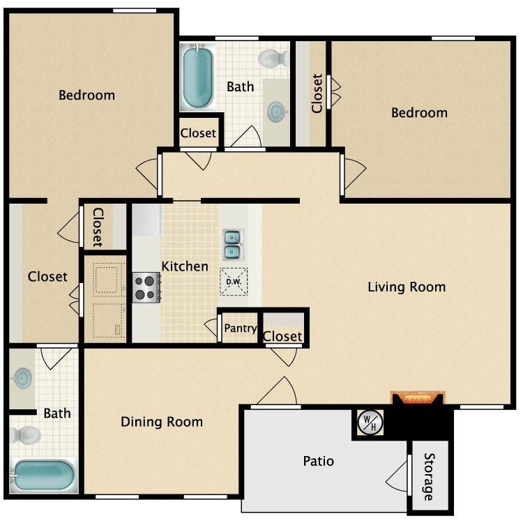 Floor plan image of D-2