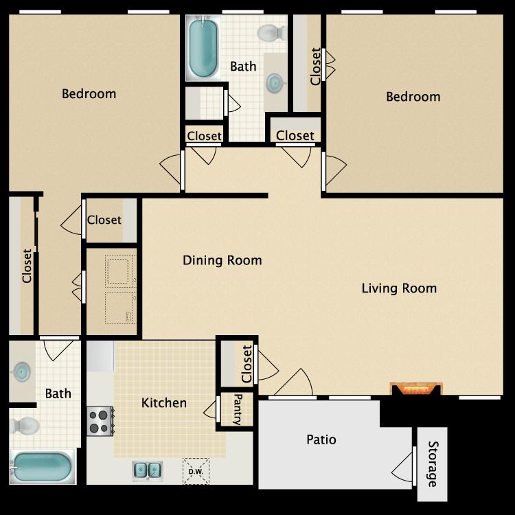 Floor plan image of D-3