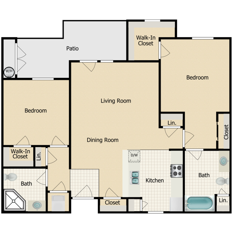 The Bella floor plan image