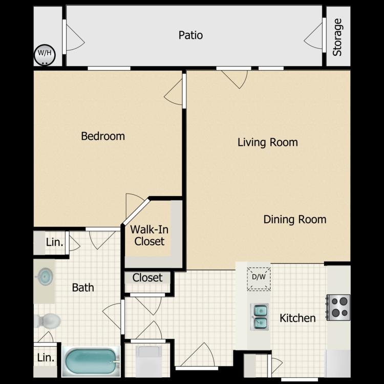The Capri floor plan image