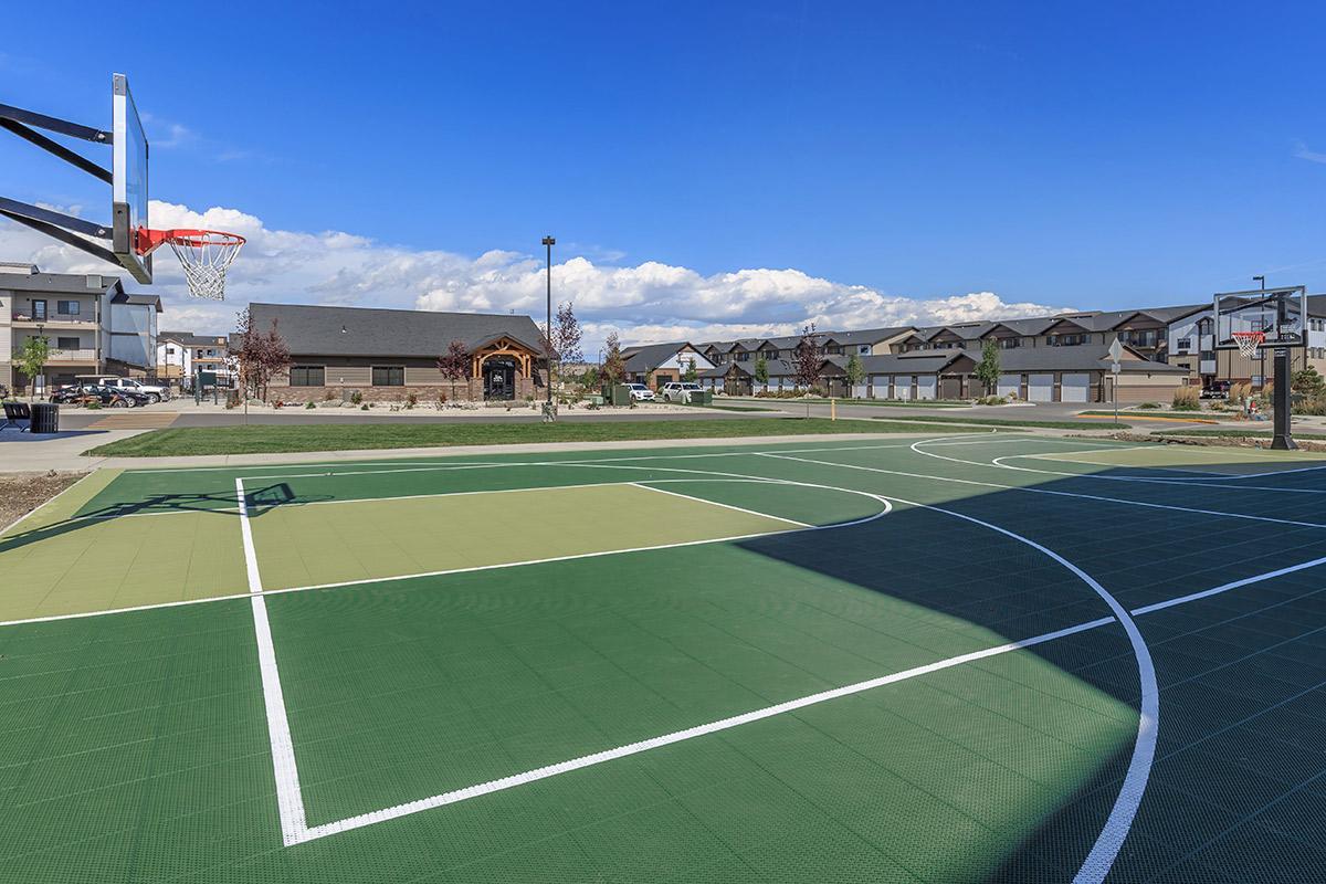 a close up of a basketball court