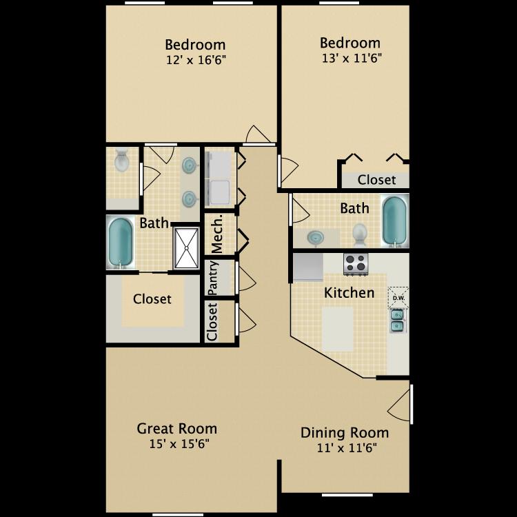 Floor plan image of 2BR