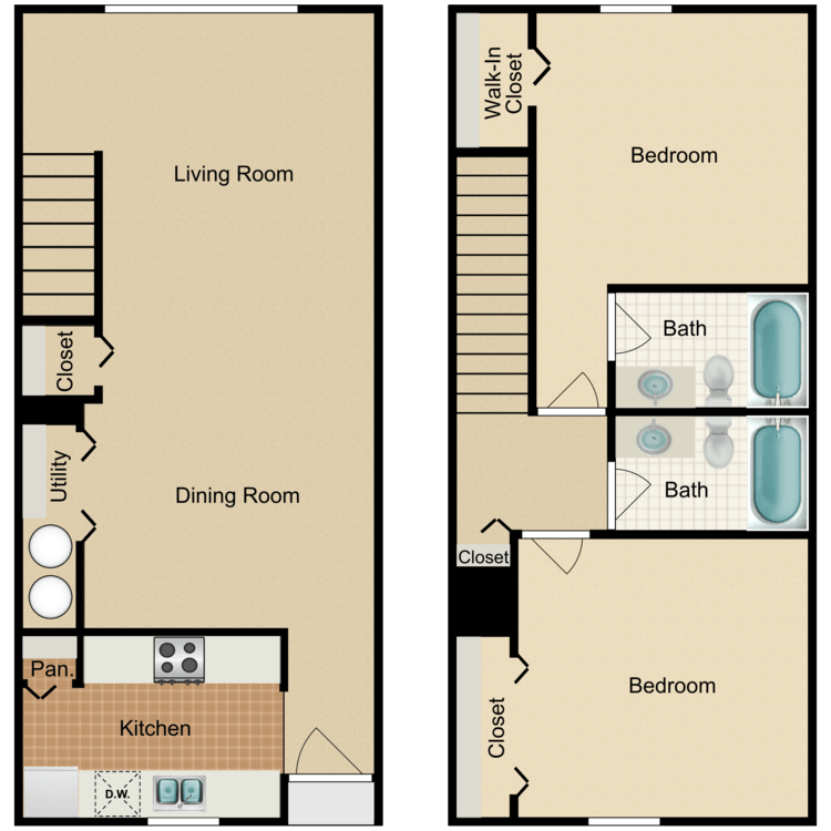 Floor plan image of All Townhomes