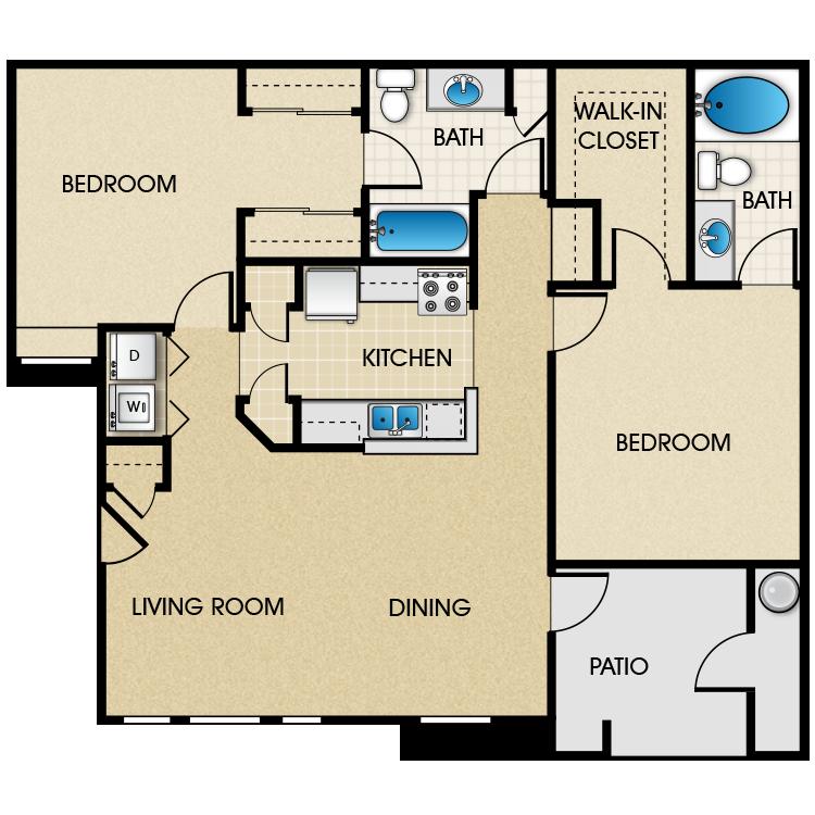 Floor plan image of Santiago