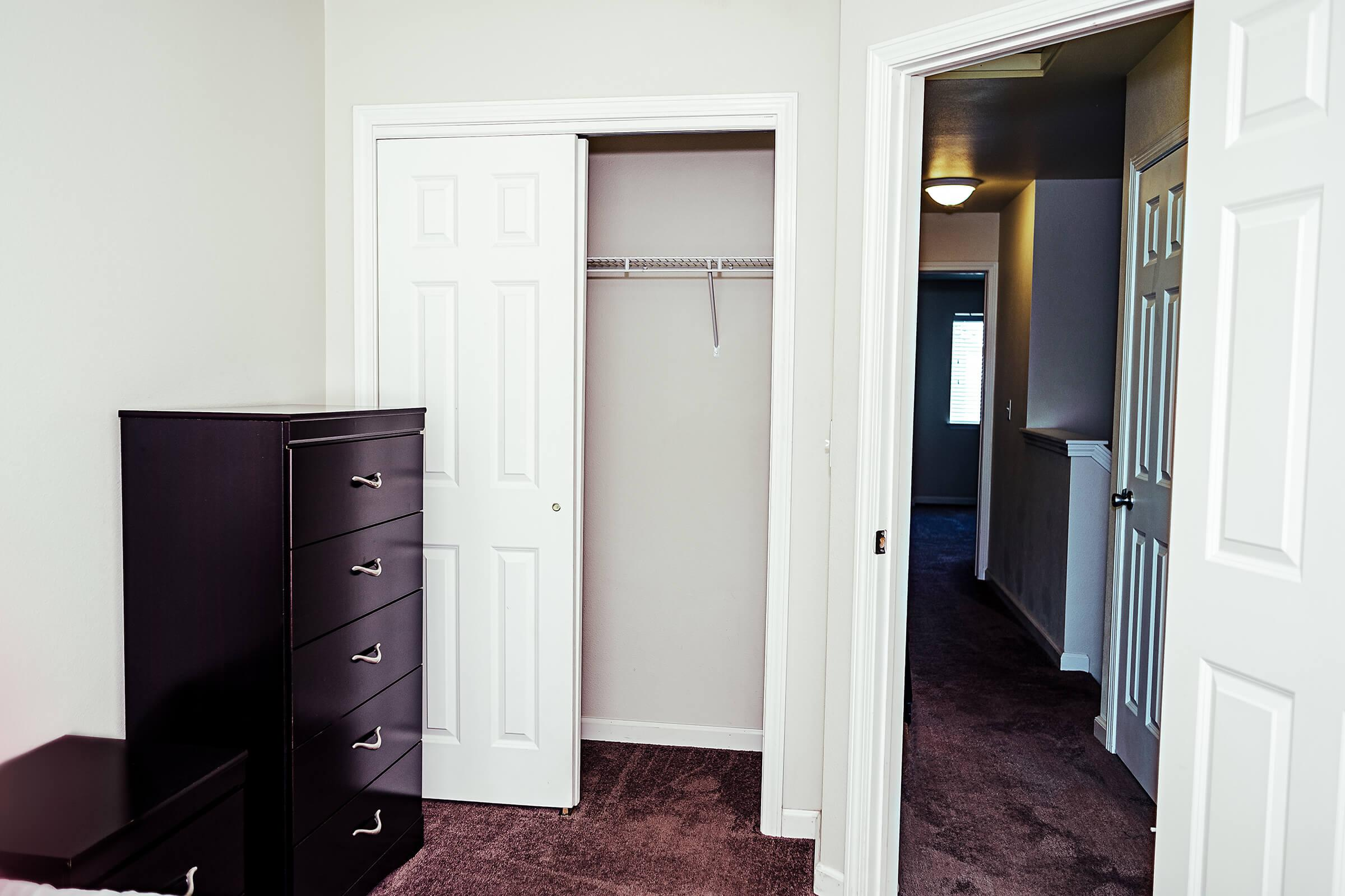 a door in a room