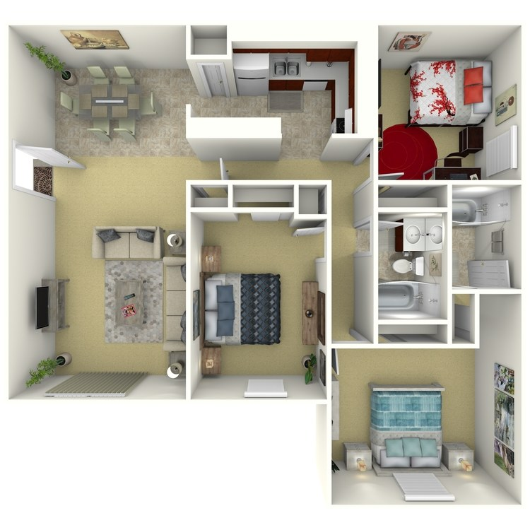 Floor plan image of 3 Bed Traditional