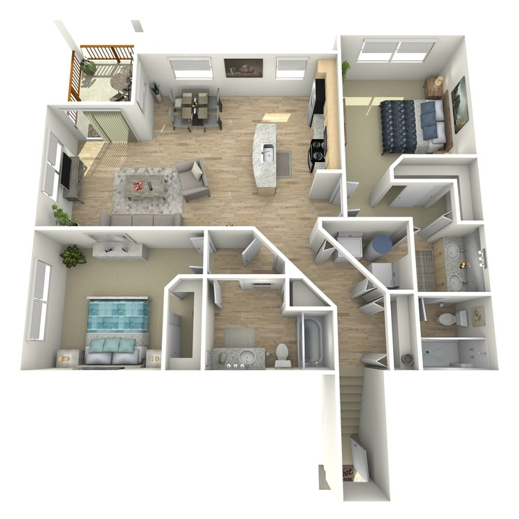 Floor plan image of B2 Second Level