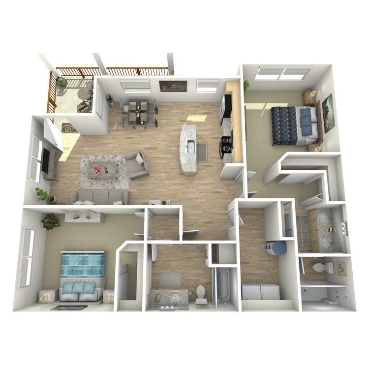 Floor plan image of B2 Garden Level