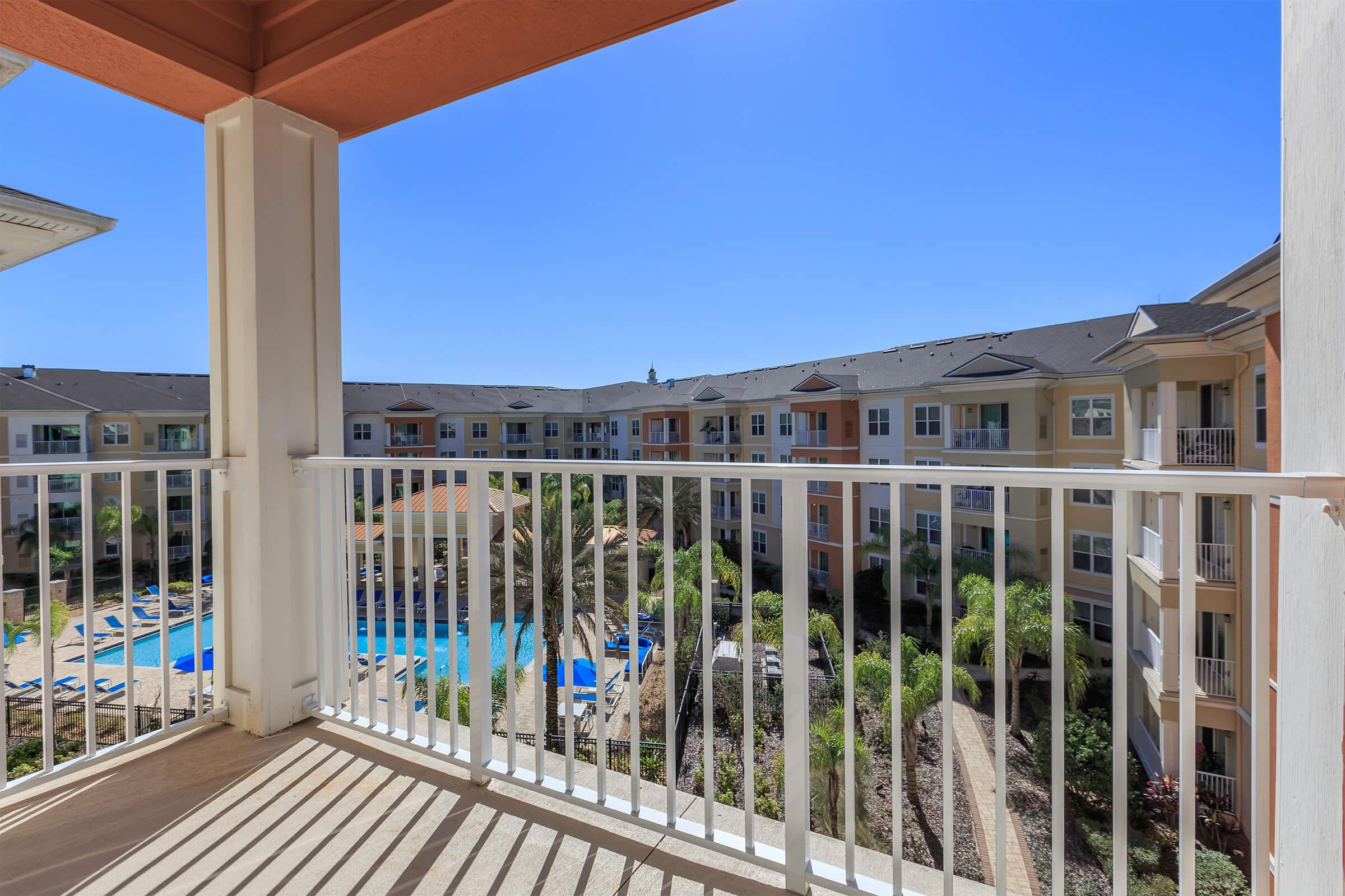 Balcony at RiZE at Winter Springs Apartments in Winter Springs, FL