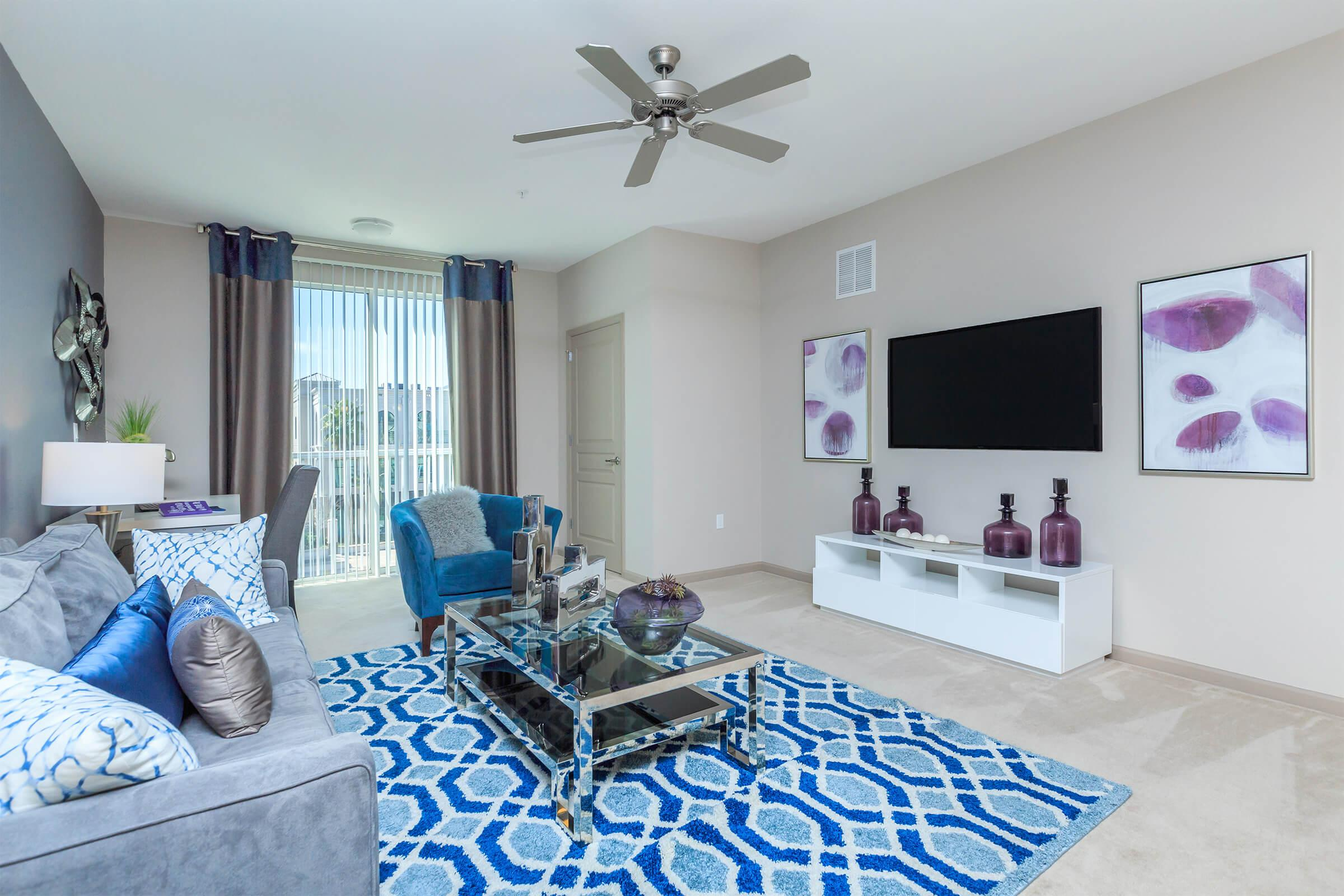 Living room at RiZE at Winter Springs Apartments in Winter Springs, FL