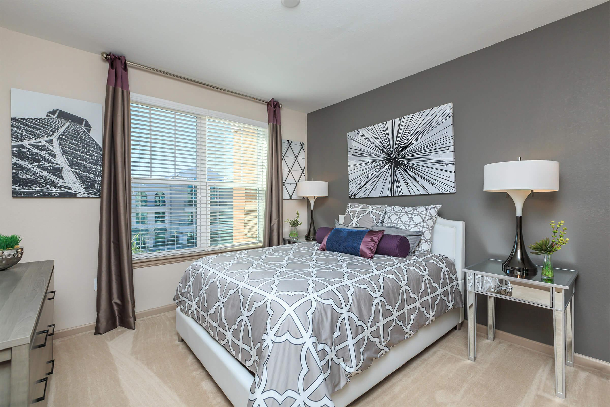 Bedroom at RiZE at Winter Springs Apartments in Winter Springs, FL