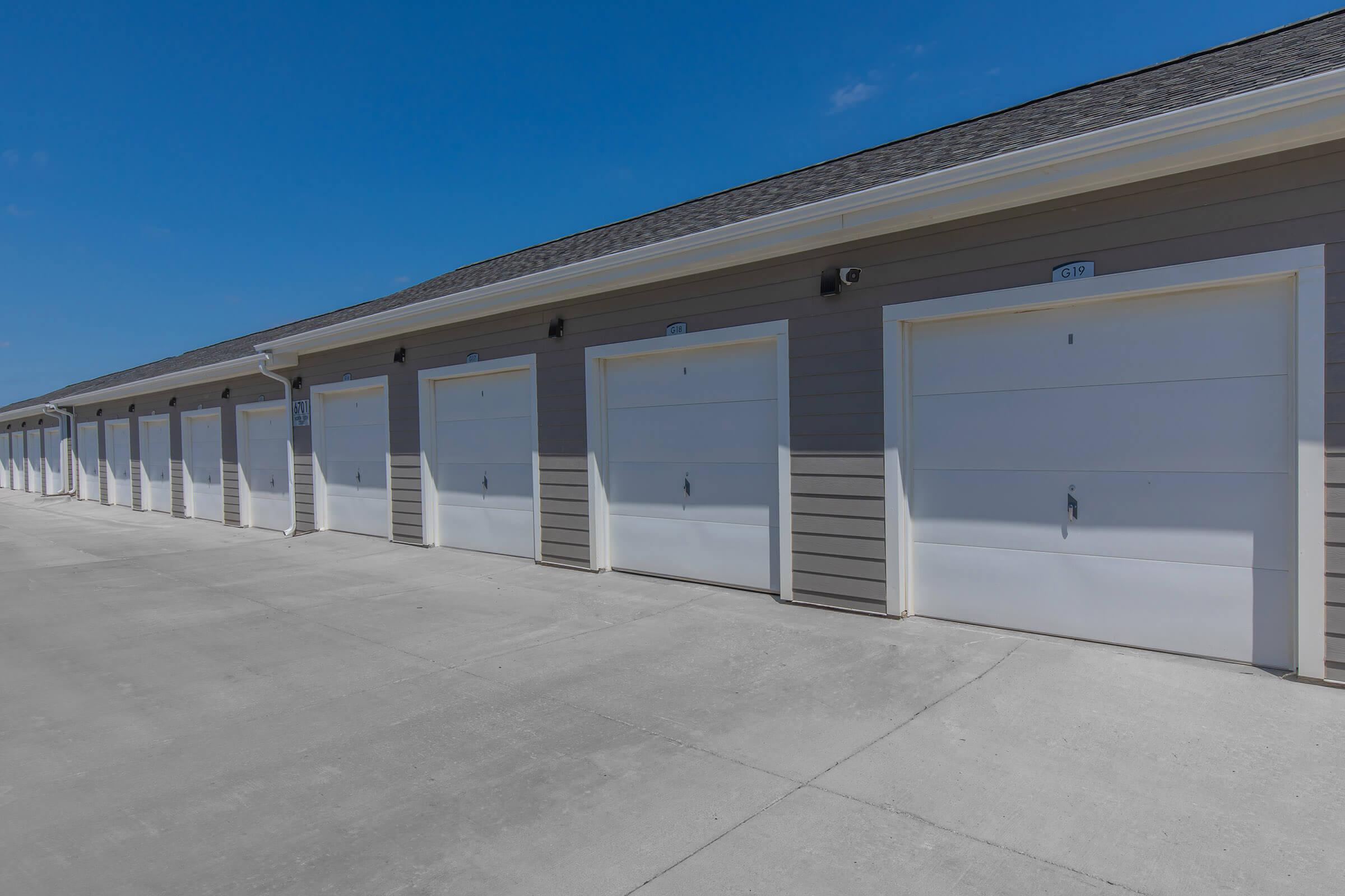 DETACHED GARAGES AND STORAGE UNITS AVAILABLE