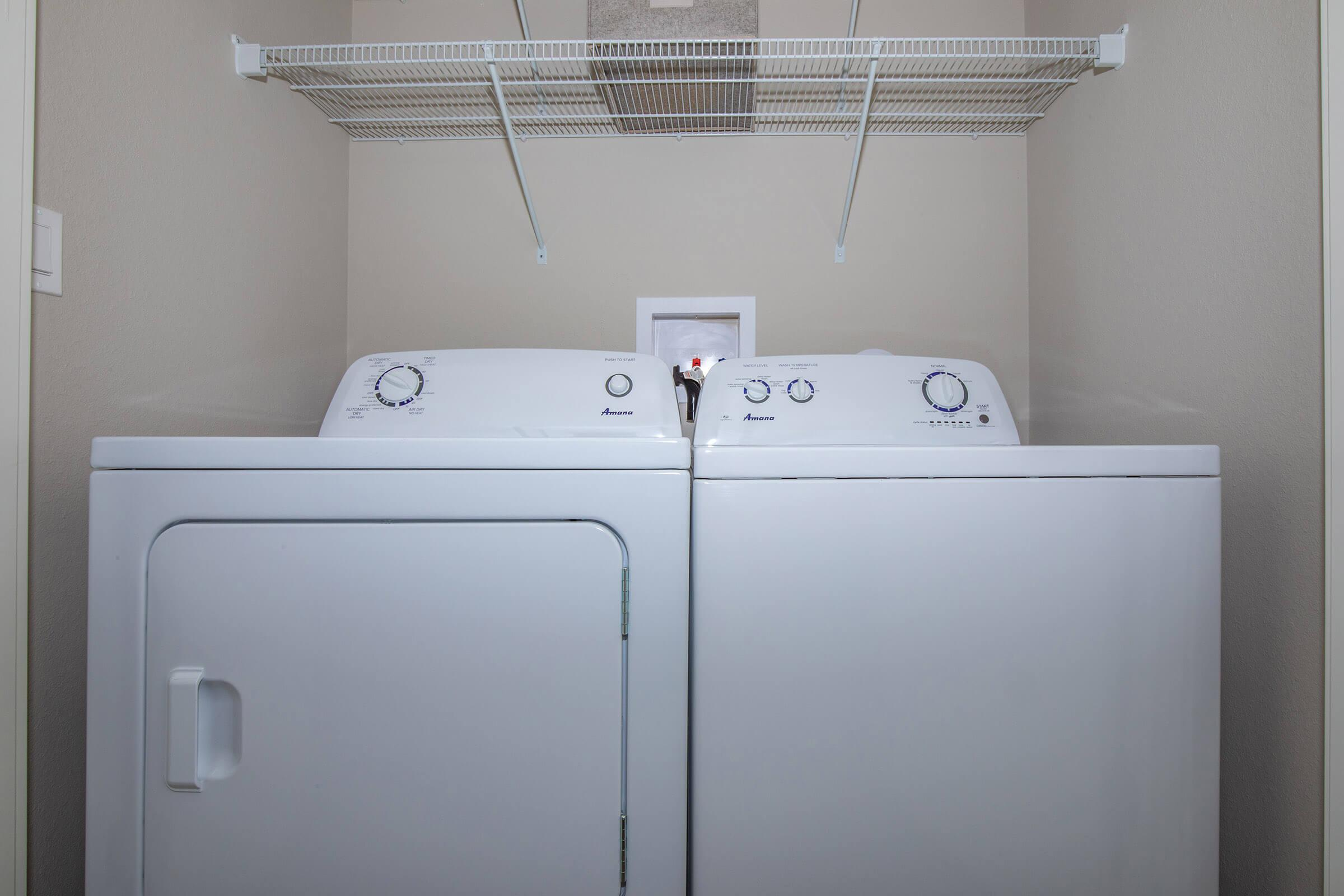 FULL-SIZE WASHER AND DRYER INCLUDED