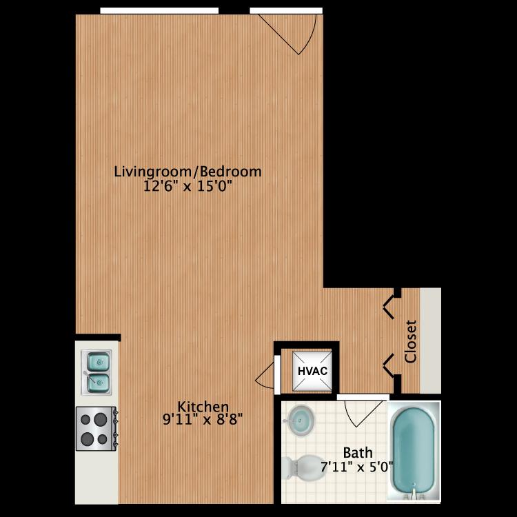 Floor plan image of Julian-Drew Studio