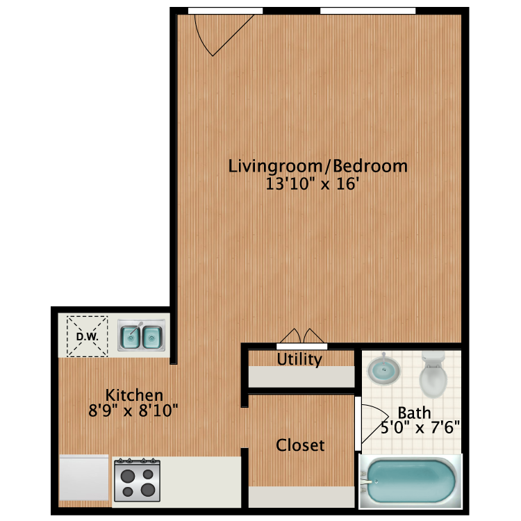 Floor plan image of Julian-Drew Studio