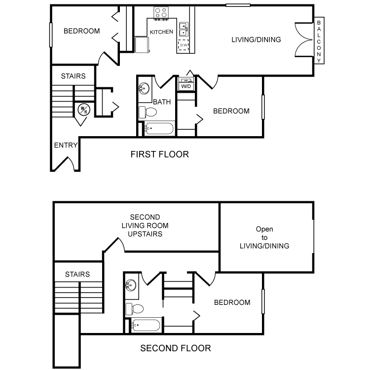 Floor plan image of Clearwater 3 Bed 2 Bath B
