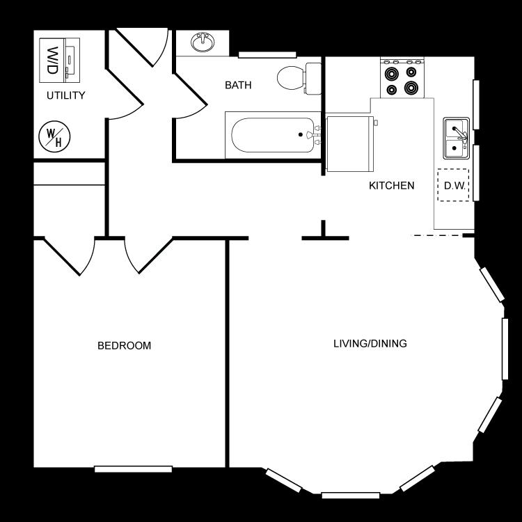 Floor plan image of Star 1 Bed 1 Bath