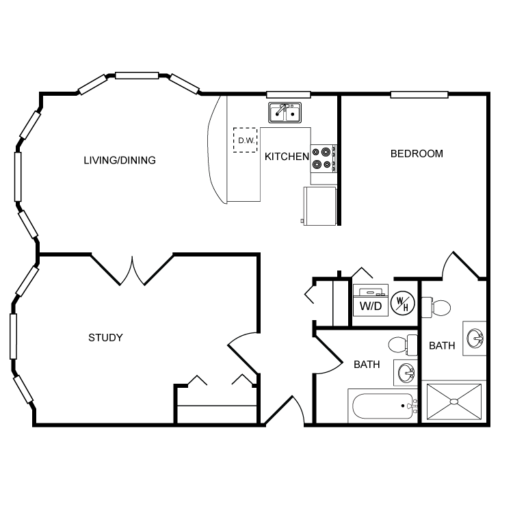 Floor plan image of Star 2 Bed 2 Bath