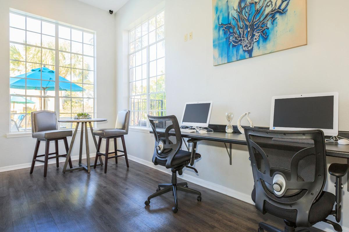 STAY CONNECTED IN THE BUSINESS CENTER