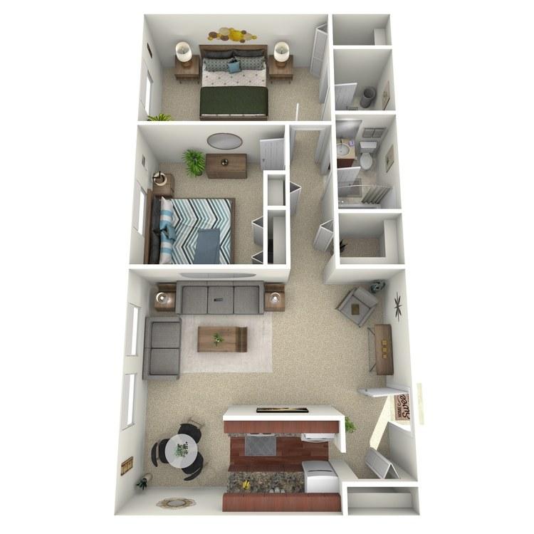 Floor plan image of Suite D