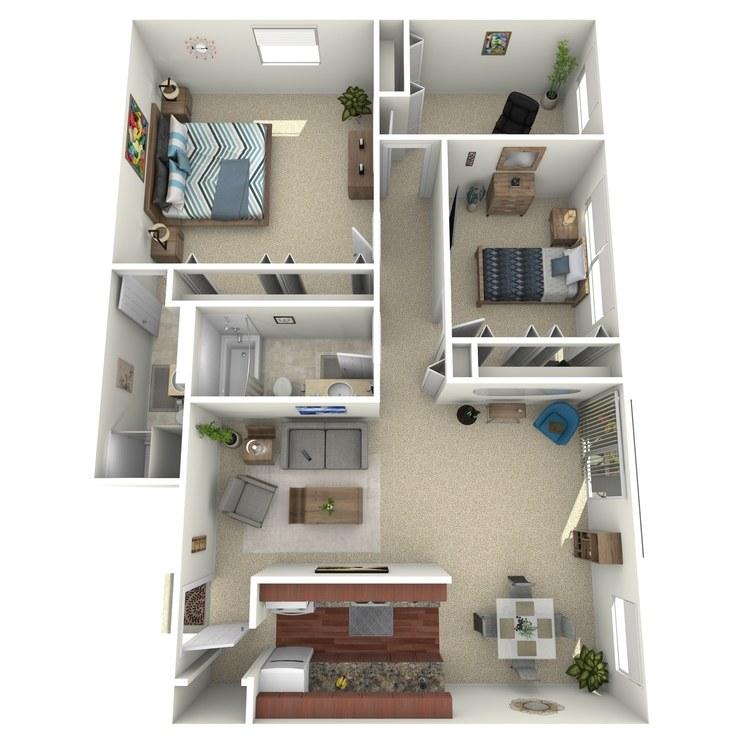 Floor plan image of Suite E