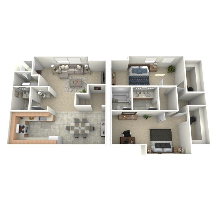 Floor plan image of The Van Buren