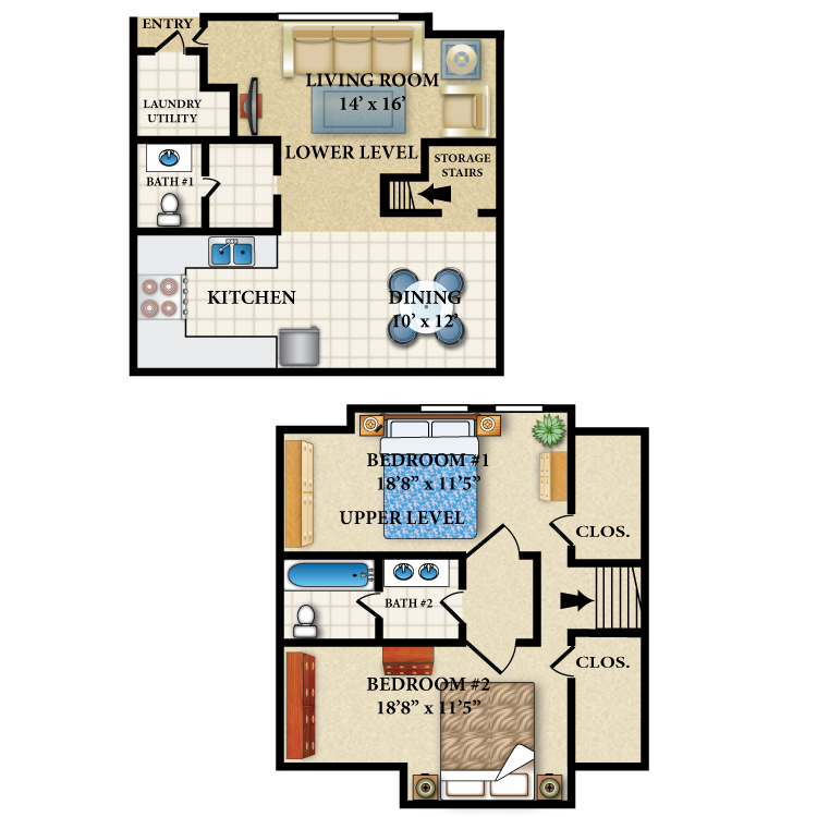 Floor plan image of The Van Buren