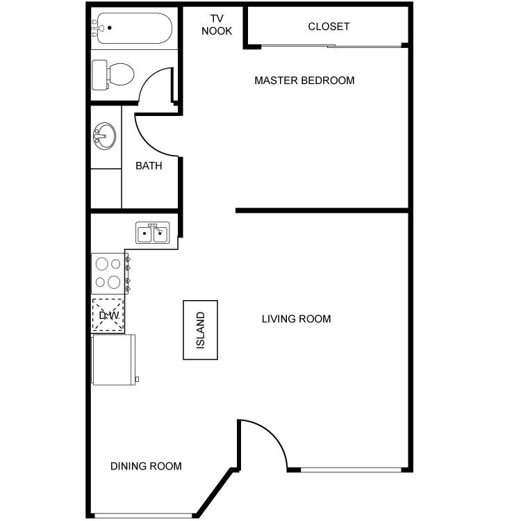 Large JR 1 Bed 1 Bath. Warner Palms   Availability  Floor Plans   Pricing