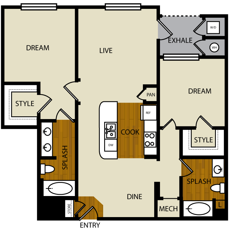 Cottonwood floor plan image