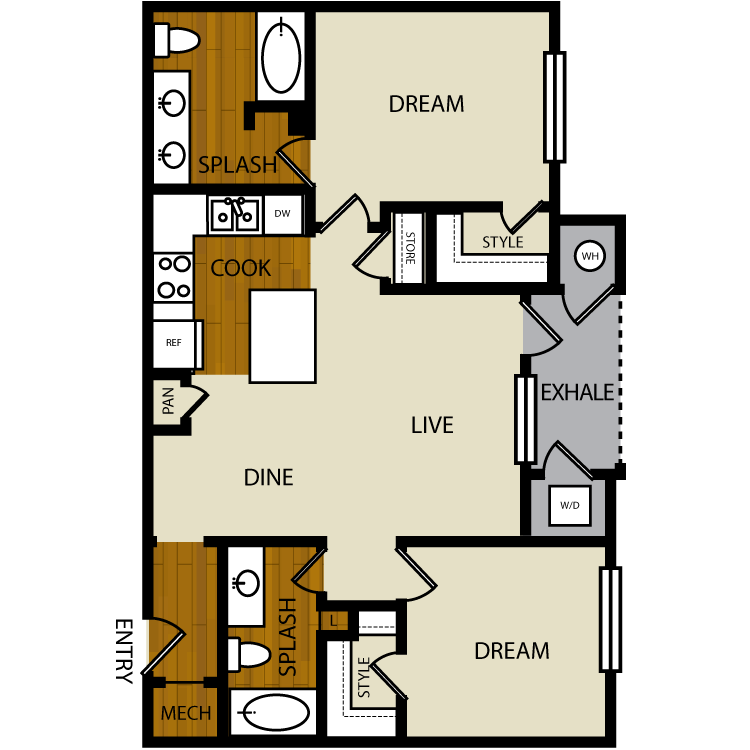 Larkspur floor plan image
