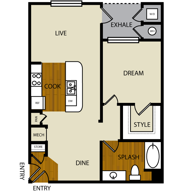 Willow floor plan image