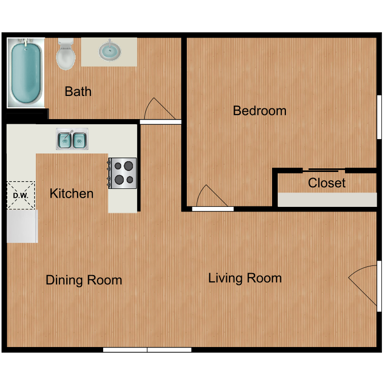 Floor plan image of The Rick