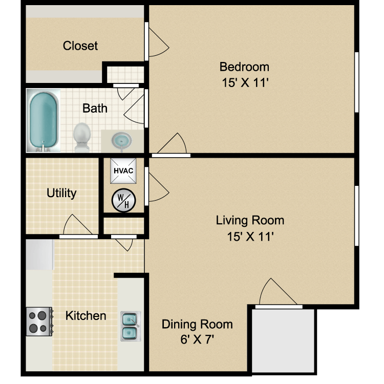 Floor plan image of 1A Corp