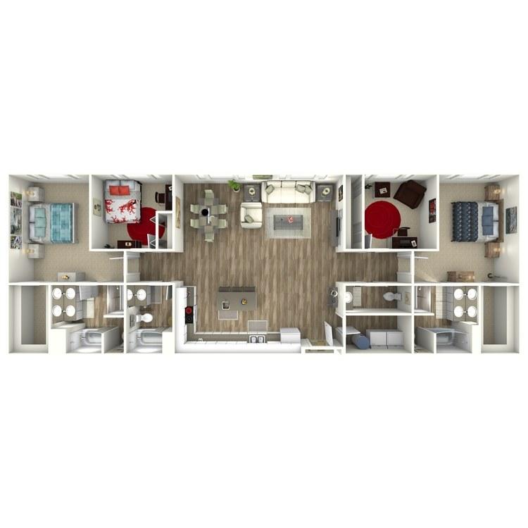 Floor plan image of 3 Bedroom Penthouse