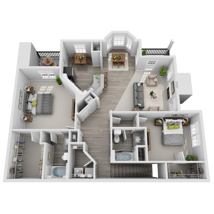 Floor plan image of Sandhill Crane