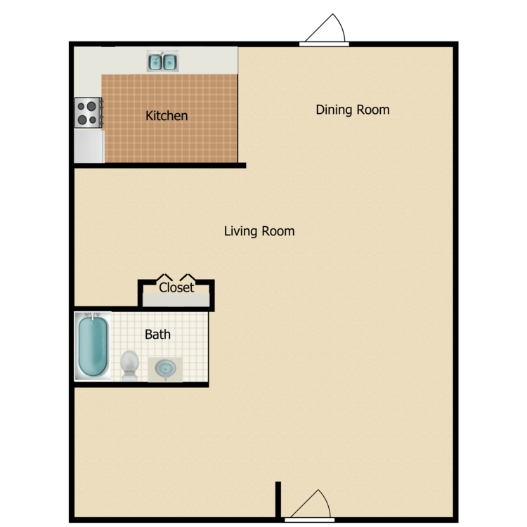 Studio floor plan image
