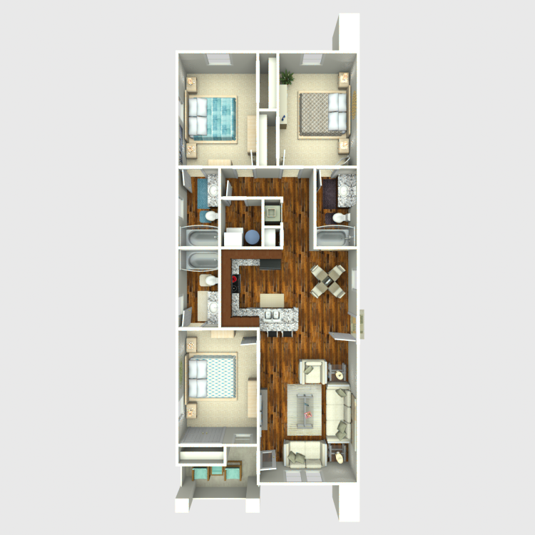 Floor plan image of 3 Bed 3 Bath Logan Ridge