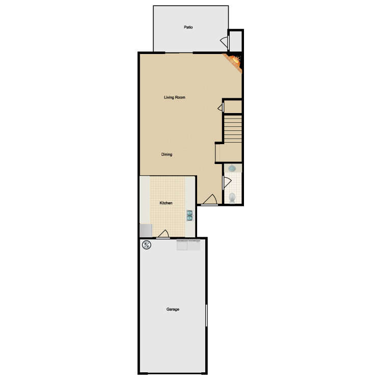 Floor plan image of Plan A First Floor
