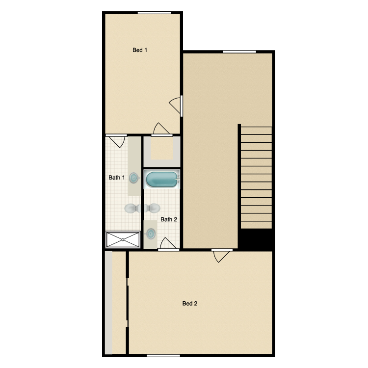 Floor plan image of Plan A Second Floor