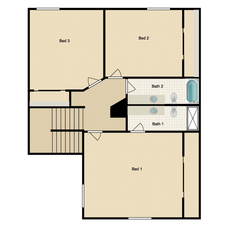 Floor plan image of Plan B Second Floor