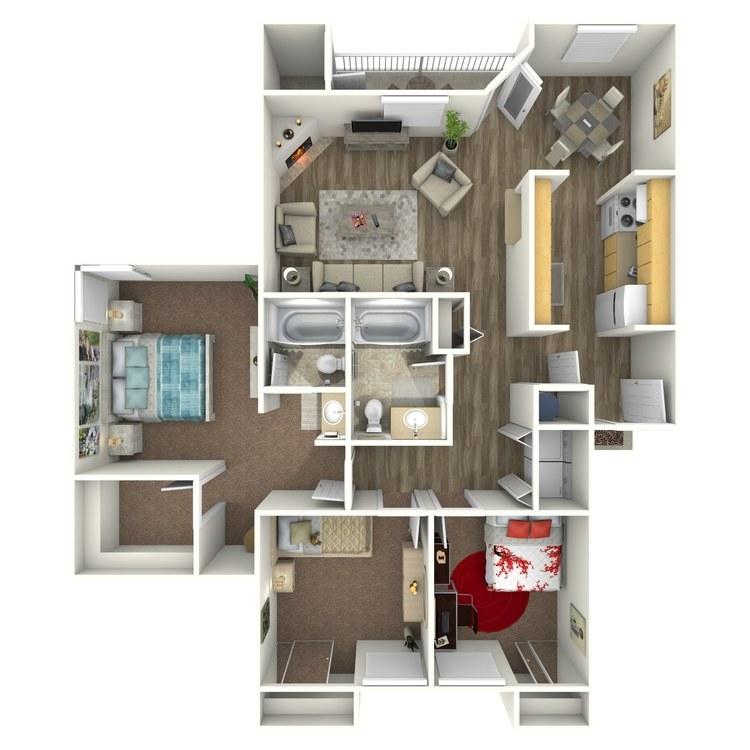 Floor plan image of 3x2